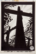 "Original Comic Art:Splash Pages, Alex Toth Our Army at War #241 ""Dirty Job"" Crucifixion ofJesus Christ Splash Page 4 Original Art (DC, 197..."