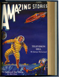 Pulps:Science Fiction, Amazing Stories December 1930-March 1931 Bound Volume (Ziff-Davis,1930-31)....