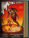 Pulps:Science Fiction, Amazing Stories April-July 1931 Bound Volume (Ziff-Davis, 1931)....