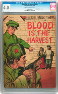 Golden Age (1938-1955):War, Blood Is the Harvest #nn (Catechetical Guild, 1950) CGC VG 4.0 Cream to off-white pages....