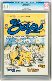 Zap Comix #1 (First Printing - Plymell) (Apex Novelties, 1967) CGC VF+ 8.5 Cream to off-white pages