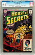 Silver Age (1956-1969):Horror, House of Secrets #61 Savannah pedigree (DC, 1963) CGC NM 9.4Off-white to white pages....