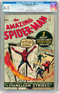Silver Age (1956-1969):Superhero, The Amazing Spider-Man #1 (Marvel, 1963) CGC FN+ 6.5 White pages....