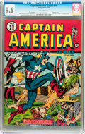 Golden Age (1938-1955):Superhero, Captain America Comics #11 (Timely, 1942) CGC NM+ 9.6 Off-white pages....
