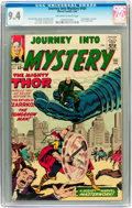 Silver Age (1956-1969):Science Fiction, Journey Into Mystery #101 (Marvel, 1964) CGC NM 9.4 Off-white towhite pages....