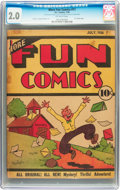Platinum Age (1897-1937):Miscellaneous, More Fun Comics #11 (DC, 1936) CGC GD 2.0 Off-white pages....
