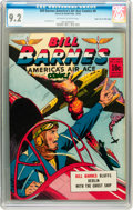 Golden Age (1938-1955):War, Bill Barnes Comics #8 Mile High pedigree (Street & Smith, 1942)CGC NM- 9.2 Off-white to white pages....
