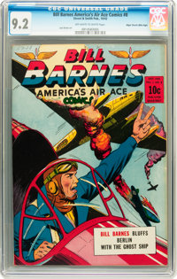 Bill Barnes Comics #8 Mile High pedigree (Street & Smith, 1942) CGC NM- 9.2 Off-white to white pages