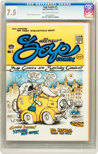 Zap Comix #1 First Printing (Apex Novelties, 1967) CGC VF- 7.5 Cream to off-white pages