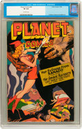 Golden Age (1938-1955):Science Fiction, Planet Comics #45 (Fiction House, 1946) CGC VF 8.0 Off-whitepages....