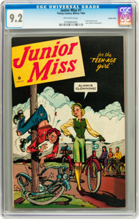 Junior Miss #1 Carson City pedigree (Timely, 1944) CGC NM- 9.2 Off-white pages