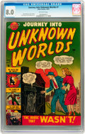 Golden Age (1938-1955):Horror, Journey Into Unknown Worlds #7 (Atlas, 1951) CGC VF 8.0 Off-whitepages....