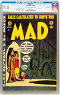 Golden Age (1938-1955):Humor, Mad #1 Gaines File pedigree 4/12 (EC, 1952) CGC NM/MT 9.8 Off-white to white pages....