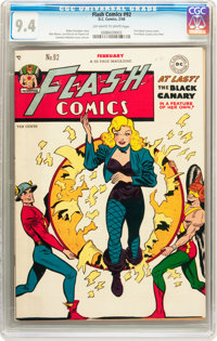 Flash Comics #92 (DC, 1948) CGC NM 9.4 Off-white to white pages