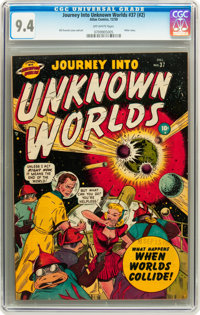 Journey Into Unknown Worlds #37 (#2) (Atlas, 1950) CGC NM 9.4 Off-white pages