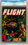 Golden Age (1938-1955):Science Fiction, Captain Flight #11 (Four Star, 1947) CGC VF- 7.5 Cream to off-whitepages....