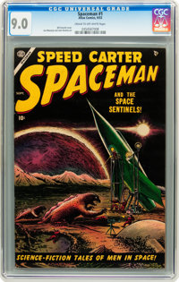 Spaceman #1 (Atlas, 1953) CGC VF/NM 9.0 Cream to off-white pages