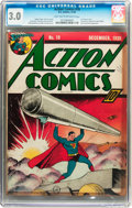 Golden Age (1938-1955):Superhero, Action Comics #19 (DC, 1939) CGC GD/VG 3.0 Light tan to off-white pages....