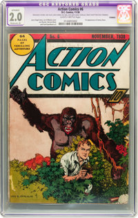 Action Comics #6 (DC, 1938) CGC Apparent GD 2.0 Moderate (A) Slightly Brittle pages
