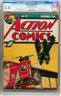 Golden Age (1938-1955):Superhero, Action Comics #18 (DC, 1939) CGC GD/VG 3.0 Cream to off-white pages....