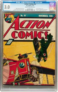 Action Comics #18 (DC, 1939) CGC GD/VG 3.0 Cream to off-white pages