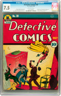Golden Age (1938-1955):Superhero, Detective Comics #39 (DC, 1940) CGC VF- 7.5 Off-white pages....