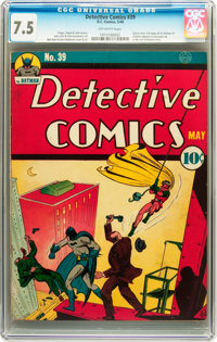 Detective Comics #39 (DC, 1940) CGC VF- 7.5 Off-white pages