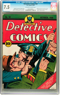 Detective Comics #32 (DC, 1939) CGC VF- 7.5 Off-white to white pages