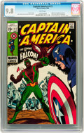Silver Age (1956-1969):Superhero, Captain America #117 (Marvel, 1969) CGC NM/MT 9.8 White pages....