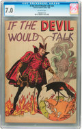 Golden Age (1938-1955):Religious, If the Devil Would Talk #nn (Roman Catholic Guild, 1950) CGC FN/VF 7.0 Off-white pages....