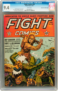 Fight Comics #26 Mile High pedigree (Fiction House, 1943) CGC NM 9.4 White pages