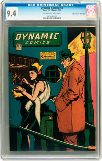 Dynamic Comics #15 Mile High pedigree (Chesler, 1945) CGC NM 9.4 Off-white to white pages