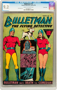 Bulletman #14 Crowley Copy (Fawcett, 1946) CGC NM- 9.2 Cream to off-white pages