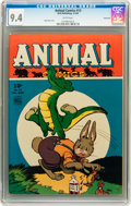 Golden Age (1938-1955):Funny Animal, Animal Comics #13 Vancouver pedigree (Dell, 1945) CGC NM 9.4 Whitepages....