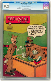 Red Seal Comics #15 (Chesler, 1946) CGC NM- 9.2 Off-white to white pages