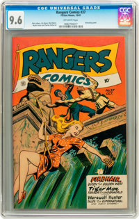 Rangers Comics #37 (Fiction House, 1947) CGC NM+ 9.6 Off-white pages