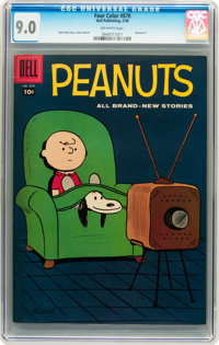 Four Color #878 Peanuts #1 (Dell, 1958) CGC VF/NM 9.0 Off-white pages