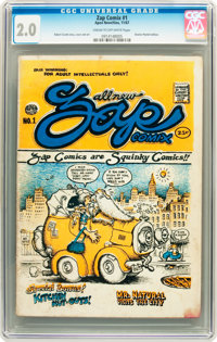 Zap Comix #1 (First Printing - Plymell) (Apex Novelties, 1967) CGC GD 2.0 Cream to off-white pages