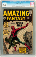 Silver Age (1956-1969):Superhero, Amazing Fantasy #15 (Marvel, 1962) CGC FN/VF 7.0 Off-whitepages....