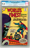Silver Age (1956-1969):Superhero, World's Finest Comics #94 (DC, 1958) CGC VF/NM 9.0 Off-white to white pages....