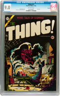 Golden Age (1938-1955):Horror, The Thing! #17 (Charlton, 1954) CGC VF/NM 9.0 Off-white pages....