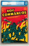 Golden Age (1938-1955):War, Boy Commandos #1 (DC, 1942) CGC VF- 7.5 Cream to off-whitepages....