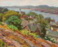Fine Art - Painting, American, PROPERTY FROM A PRIVATE COLLECTION, CALIFORNIA. JOSEPH MARGULIES(American, 1896-1986). Gloucester Harbor,. Oil on can...