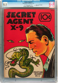 Platinum Age (1897-1937):Miscellaneous, Feature Books #8 Secret Agent X-9 - Mile High pedigree (David McKayPublications, 1937) CGC VF+ 8.5 Off-white to white pages....