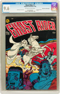 Golden Age (1938-1955):Western, Ghost Rider #1 Mile High pedigree (Magazine Enterprises, 1950) CGCNM+ 9.6 Off-white to white pages....