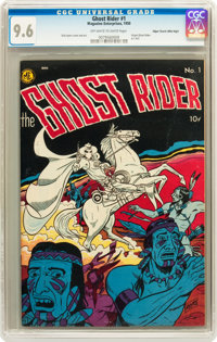 Ghost Rider #1 Mile High pedigree (Magazine Enterprises, 1950) CGC NM+ 9.6 Off-white to white pages