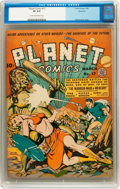 Golden Age (1938-1955):Science Fiction, Planet Comics #17 Rockford pedigree (Fiction House, 1942) CGC VF8.0 Cream to off-white pages....