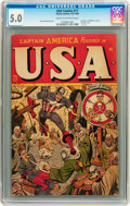Golden Age (1938-1955):Superhero, USA Comics #17 (Timely, 1945) CGC VG/FN 5.0 Cream to off-white pages....