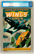 Golden Age (1938-1955):War, Wings Comics #55 Mile High pedigree (Fiction House, 1945) CGC NM+9.6 Off-white to white pages....