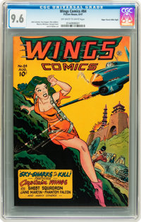 Wings Comics #84 Mile High pedigree (Fiction House, 1947) CGC NM+ 9.6 Off-white to white pages